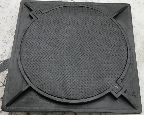 Nắp hố ga composite đen