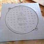 Nắp hố ga composite vuông khung dương nắp tròn;