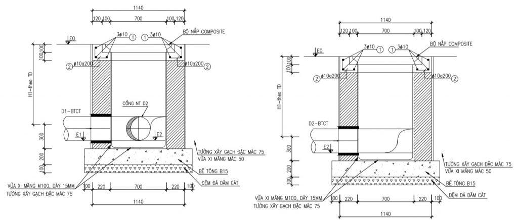 Bản vẽ chi tiết nắp ga composite thoát nước thải