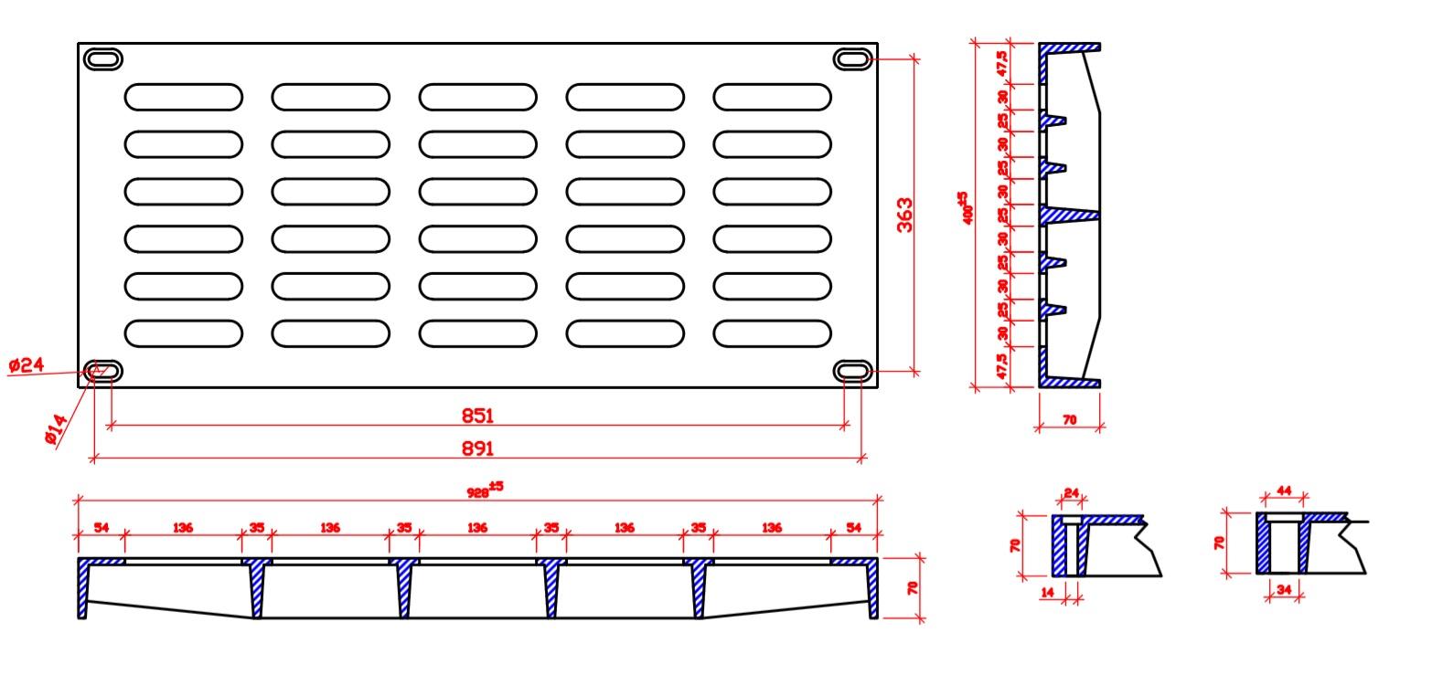 File thiết kế song chắn rác bằng gang kích thước chuẩn