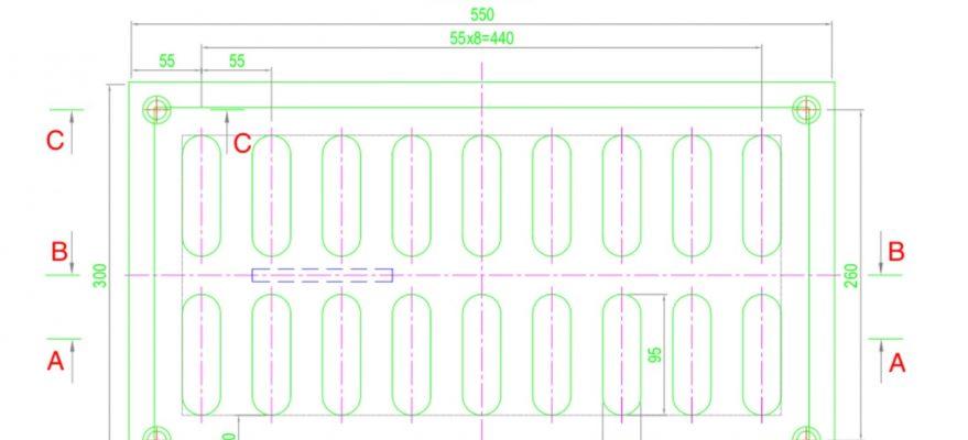 File bản vẽ chi tiết cấu tạo tấm gang lỗ (tải về miễn phí)